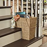 Household Essentials ML-5647 Seagrass Wicker Stair