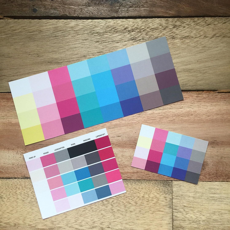 Set Großer und kleiner Farbpass, Make-Up-Pass Sommertyp Farbkarte ...