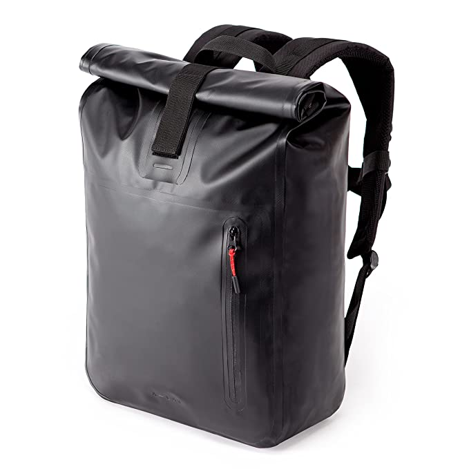 """A Lab • Model A • Wasserdichter Fahrradrucksack • Messenger Backpack • Kurierrucksack Aus Robuster Lkw Plane (26l) Mit Extra Hülle Für 15"""" Laptop • Tagesrucksack In Schwarz by Amazon"""
