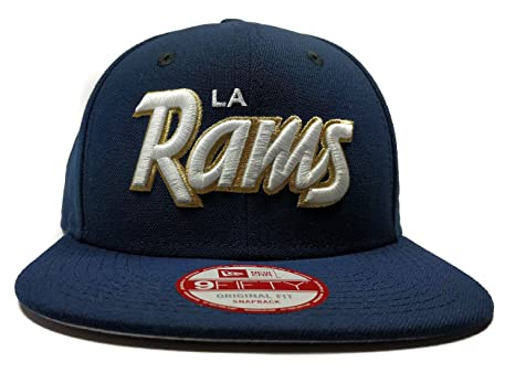 best website 45107 00ab9 Image Unavailable. Image not available for. Color  New Era Los Angeles Rams  9Fifty Oceanside Blue Classic Script Adjustable Snapback Hat NFL