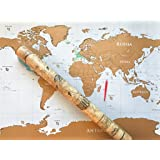 Amazoncom Large Scratch Off World Map Poster Includes US - Us scratch off map