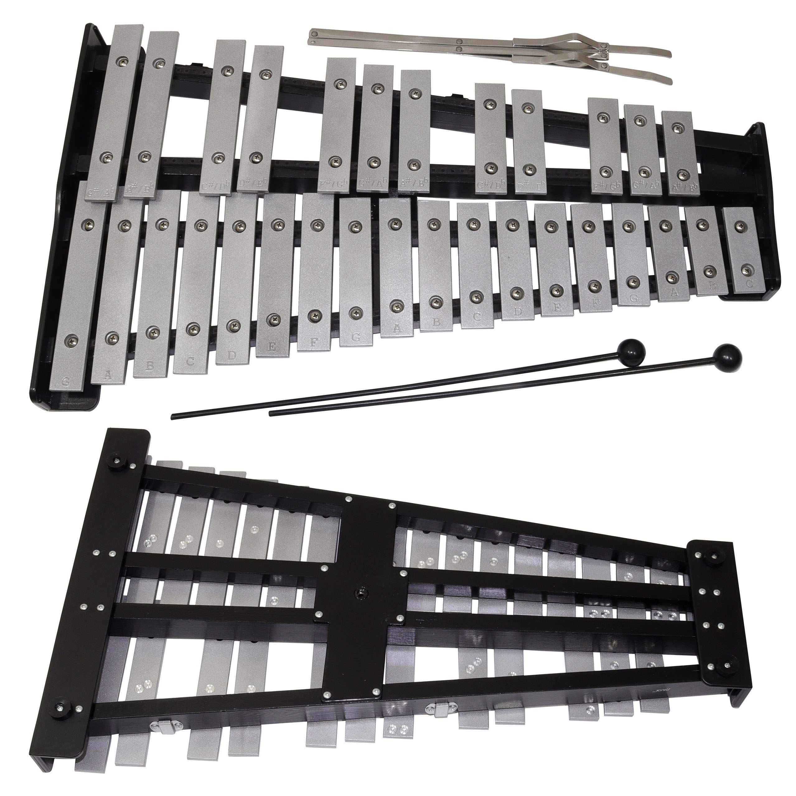 30 note Professional Glockenspiel - Metal Bell Kit Xylophone with Stand, Note Holder and Carrying Bag by inTemenos (Image #8)