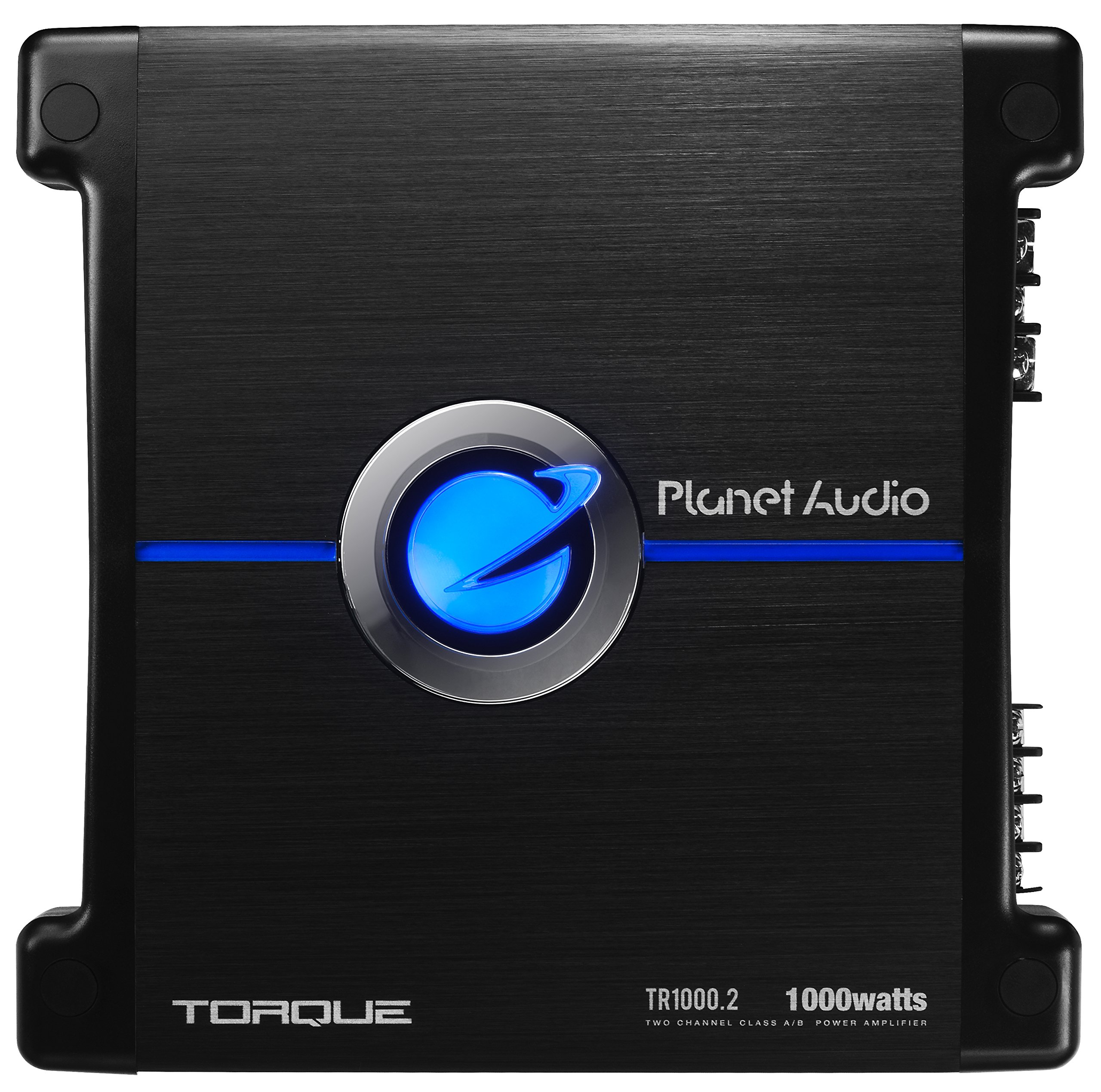 Planet Audio TR1000.2 Torque 1000 Watt, 2 Channel, 2 to 8 Ohm Stable Class A/B, Full Range, Bridgeable, MOSFET Car Amplifier with Remote Subwoofer Control