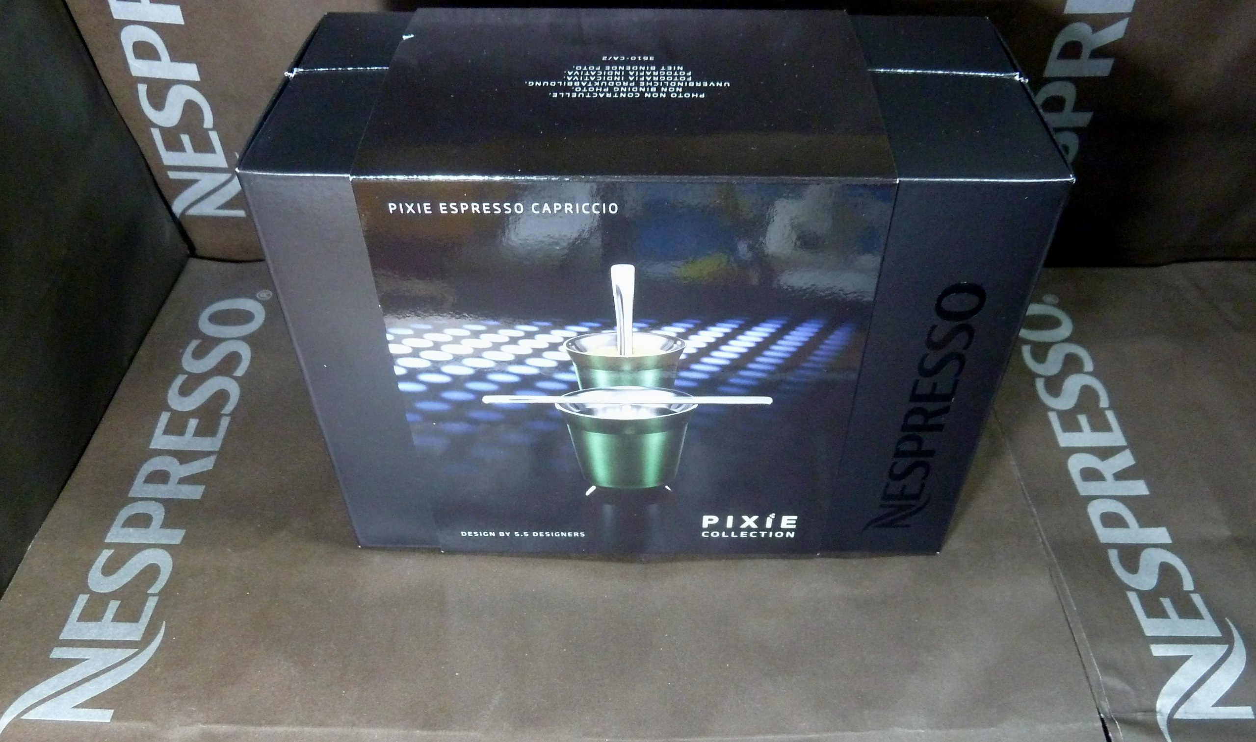 Nespresso Special Gift Set 2 Pixie Espresso Capriccio Cups & Stirrers , In Brand Box , New by Nespresso (Image #2)
