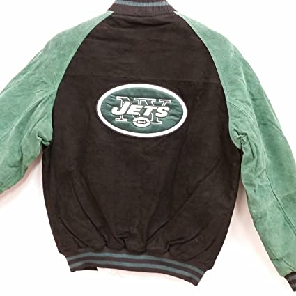 outlet store 91840 b49f3 Amazon.com : NFL Men's Genuine Suede Leather Varsity Jacket ...