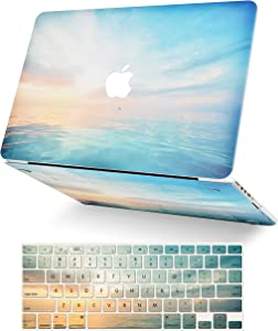 LuvCase 2 in 1 Laptop Case for MacBook Air 13 Inch (2020)(Touch ID) A2179 Retina Display Rubberized Plastic Hard Shell Cover & Keyboard Cover (Sunrise)