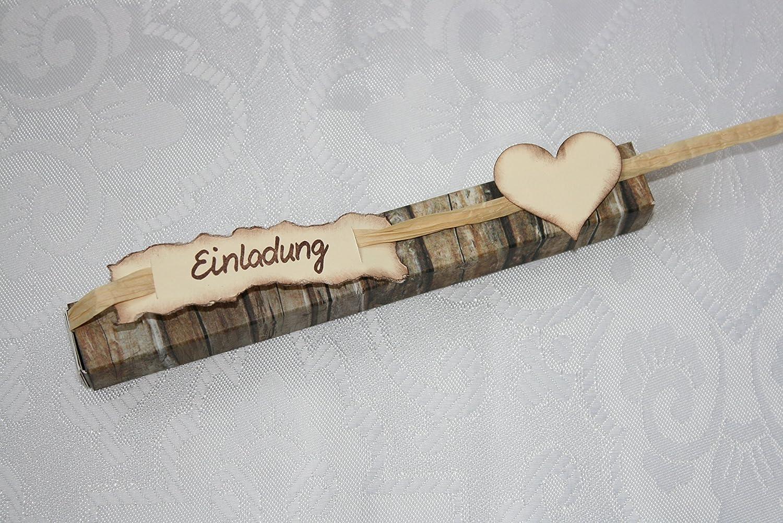 Einladung Im Reagenzglas Hölzerne Hochzeit: Amazon.de: Handmade