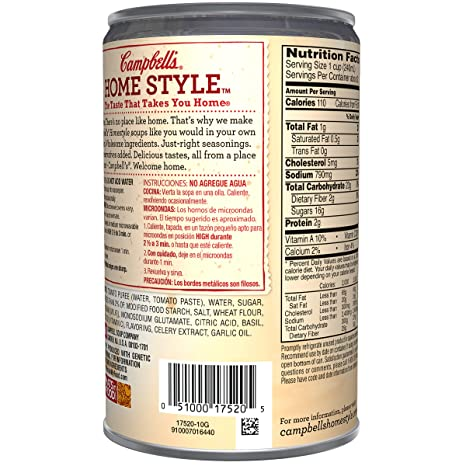 Campbells Homestyle Soup, Harvest Tomato with Basil, 18.7 Ounce