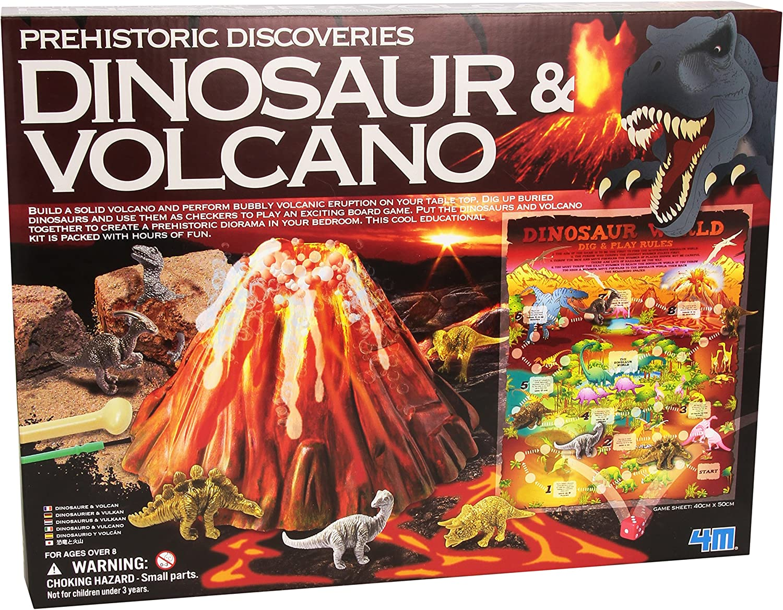 Great Gizmos Discoveris Dinosaurio prehistórico y el volcán Construir y Jugar Kit. De Juguetes Importados Desde el Reino Unido.: Amazon.es: Juguetes y juegos
