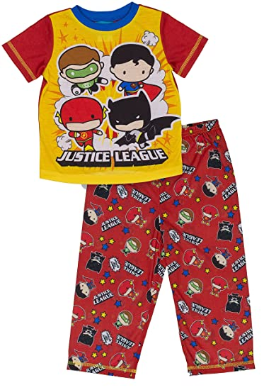 fa144dc12 Amazon.com  DC Comics Boys Justice League Chibis 2-pc Toddler Pajama ...