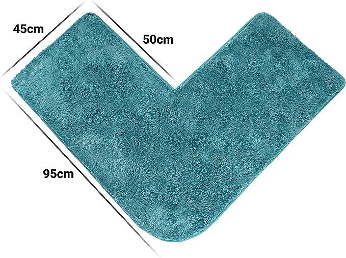 60 x 45cm Cazsplash Duschmatte Microfaser grau