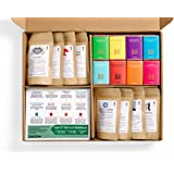 Bean Box Gourmet Coffee and Chocolate Deluxe Gift Box - (8 handpicked roasts + 8 chocolate bars, whole bean coffee)