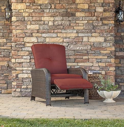 Hanover Strathmere outdoor wicker recliner
