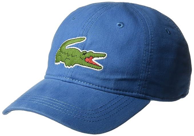 b86074a9 Lacoste Men's Big Croc Gabardine Cap, Medway, One Size: Amazon.ca ...