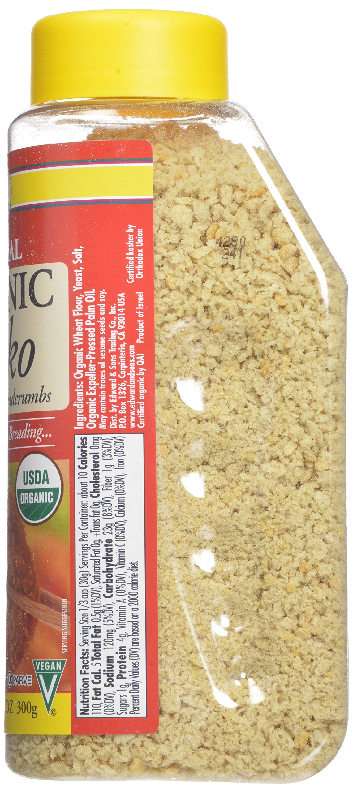 Edward & Sons Organic Panko, Japanese Style Breadcrumbs, 10.5-Ounce Canisters (Pack of 6) by Edward & Sons (Image #4)