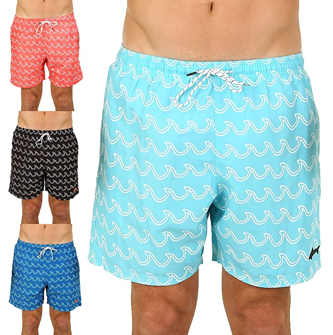 f24626d672f UZZI Men's Bimini Swim Trunks (Small, Aqua)