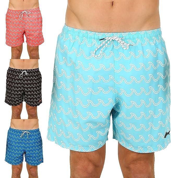 39bdfb4e2000e UZZI Men's Bimini Swim Trunks (Small, Aqua)