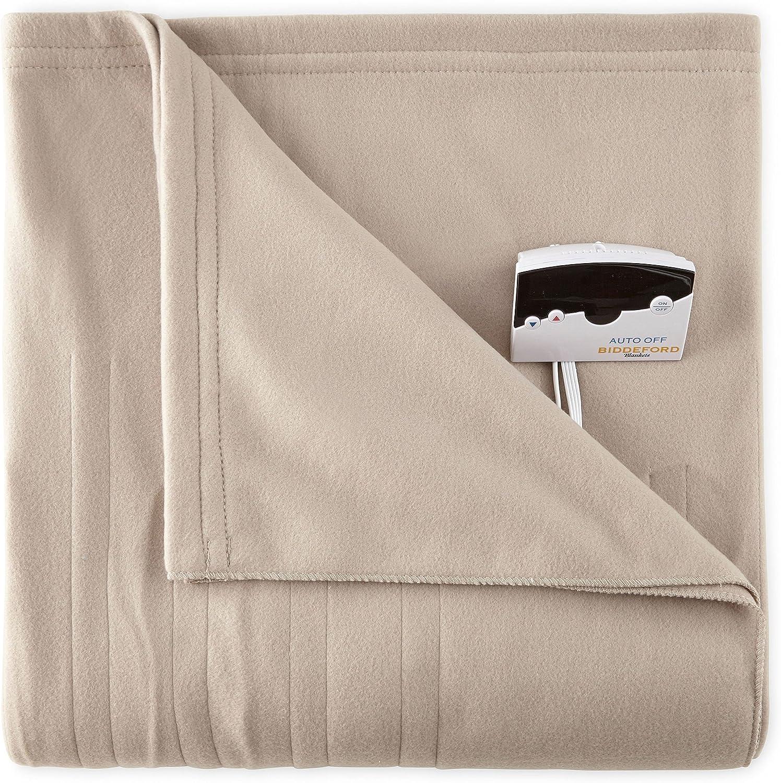 Biddeford Comfort Knit Fleece Electric Heated Blanket