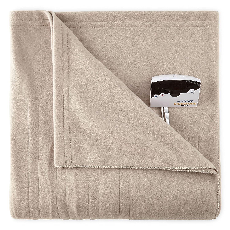 Biddeford 1003-9052106-700 Comfort Knit Fleece Electric Heated Blanket Queen Taupe