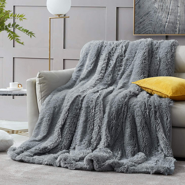 Choose Pattern 5/' x 6/' Faux Fur Novelty Large Plush Super Soft Throw Blanket