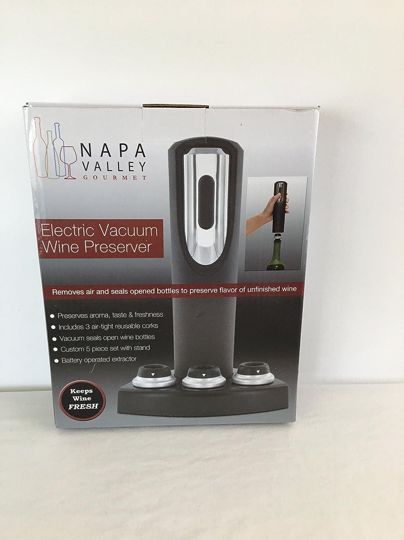 1 X Electric Vacuum Wine Preserver Napa Valley Gourmet EVP-1