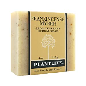 Frankincense Myrrh 100% Pure & Natural Aromatherapy Herbal Soap- 4 oz (113g)
