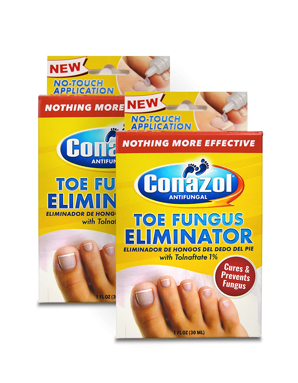 Amazon.com: 2 Pack Conazol Toe Fungus Eliminator with Tolnaftate 1% Clinically Proven to Cure and Prevent Foot Fungus and No-Touch Applicator Helps Stop ...