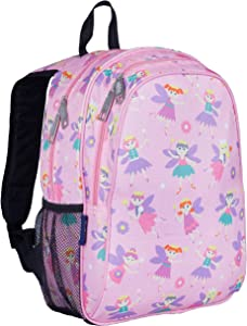 Wildkin Kids 15 Inch Backpack for Boys and Girls, Perfect Size for Preschool, Kindergarten and Elementary School, 600-Denier Polyester Fabric Backpacks, BPA-free, Olive Kids (Fairy Princess)