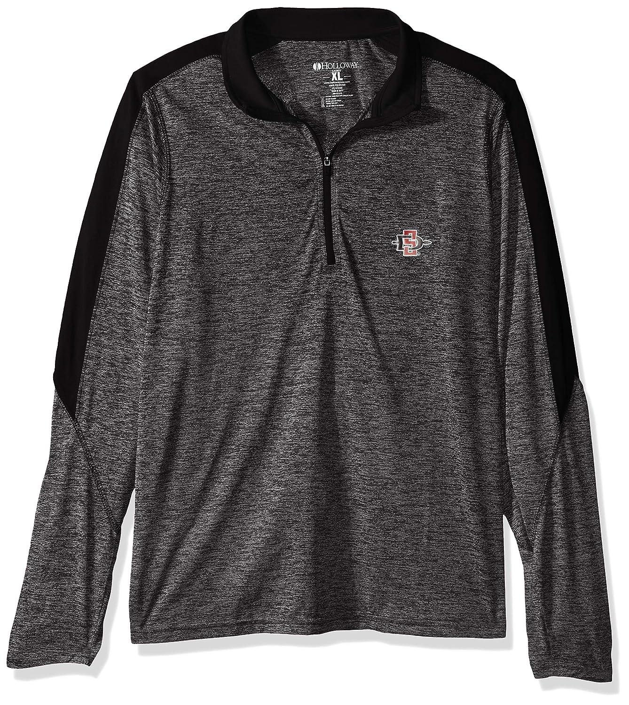Medium Ouray Sportswear NCAA Iowa State Cyclones W Electrify 1//2 Zip Pullover Black Heather//Black