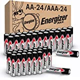 Energizer MAX AA Batteries & AAA Batteries Combo Pack, 24 AA and 24 AAA (48 Count)