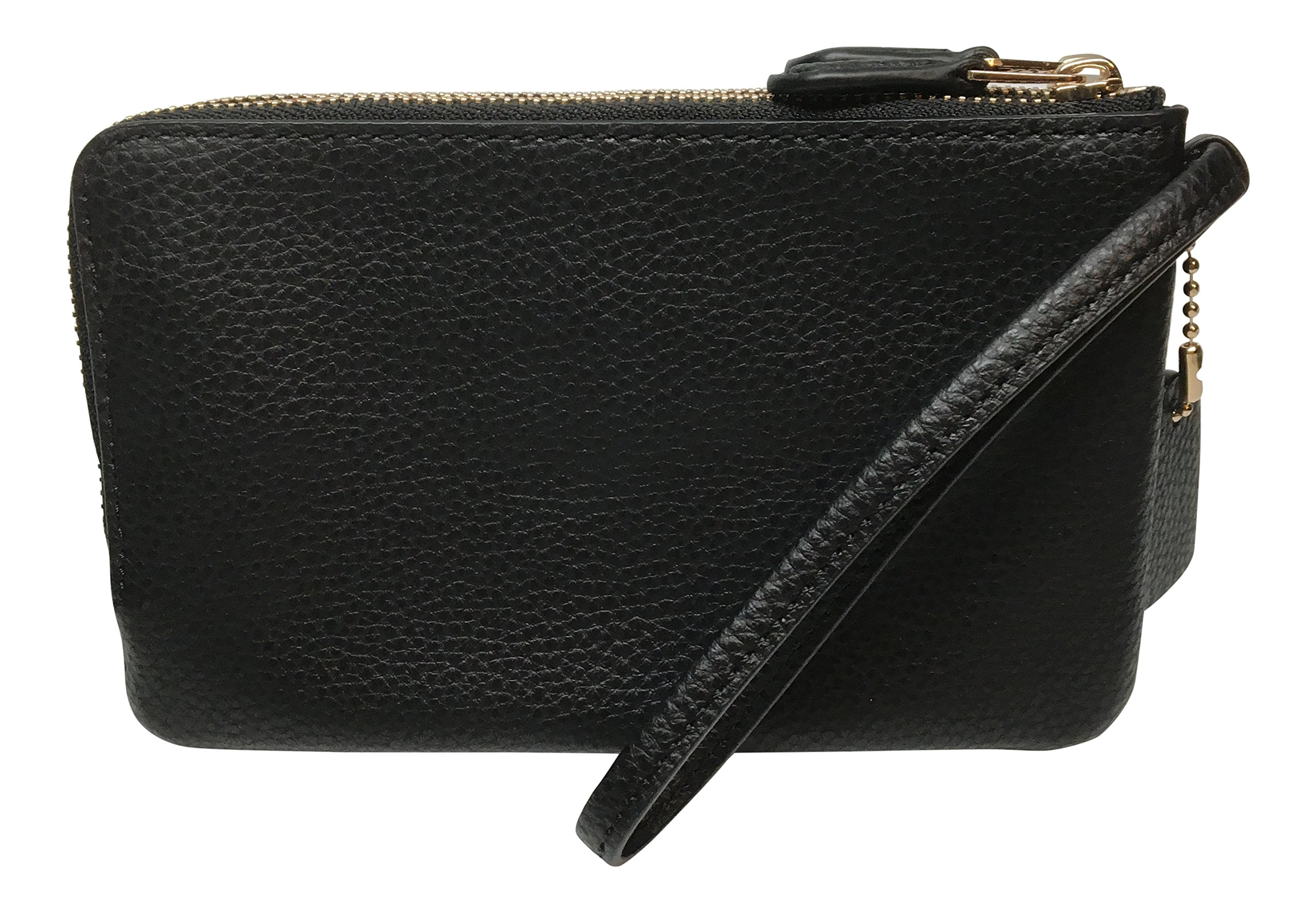 Coach Pebbled Leather Double Corner Zip Wristlet F87590