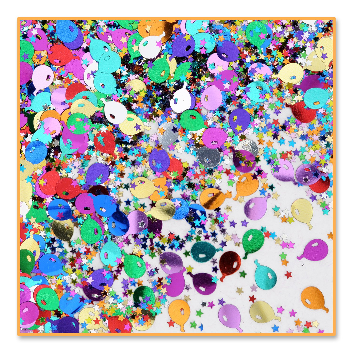 Balloons And Stars Confetti (Pack of 96) by Beistle
