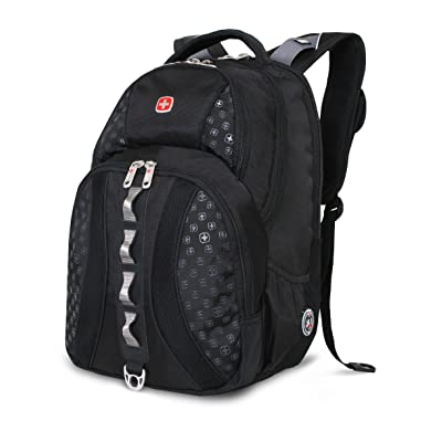 Swiss Gear SA9768 Black Laptop Backpack - Fits Most 15 Inch Laptops and Tablets high-quality