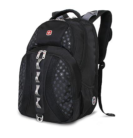 c64faa666c3 Amazon.com  Swiss Gear SA9768 Black Laptop Backpack - Fits Most 15 ...