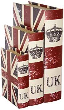 Union Jack Book Box, Flux bookSet of Three 13,10, 7 inches