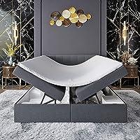 Innocent S4 - Cama con somier con canapé (90 x 200 cm, 2 capas viscoelásticas, colchón de…