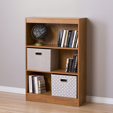 South Shore Axess 3 Shelf Bookcase, Country Pine