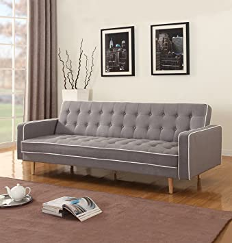 grey tone sofa vintage com modern amazon dp sleeper linen two mid futon century
