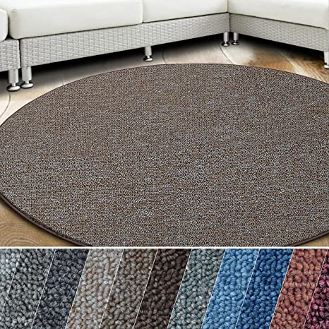 Schlingen Teppich Wohnzimmer Kinder Zimmer Spielteppich Anthrazit Blau