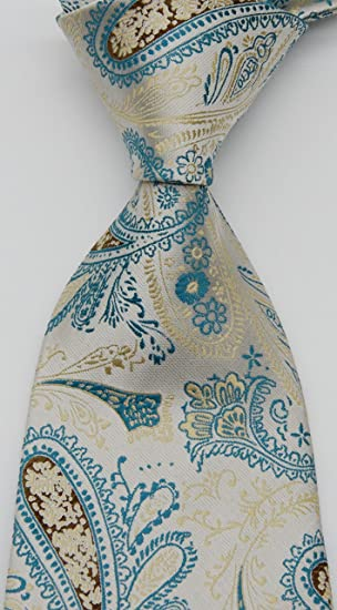Geotae Zerun Corbata de seda para hombre, diseño de cachemira de ...