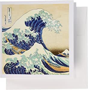 3dRose The Great Wave off Kanagawa by Japanese artist Hokusai - Greeting Cards, 6 x 6 inches, set of 12 (gc_155631_2)