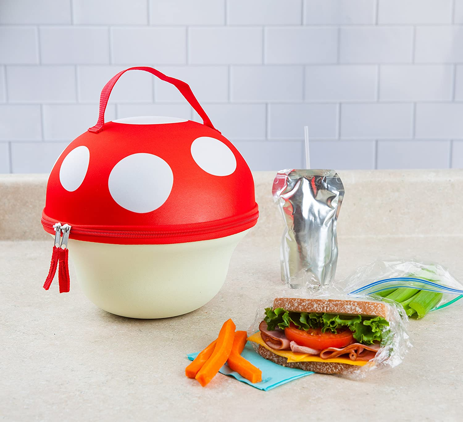 Keeps Lunches Cool Insulated Fun Kids Lunch Box or Adult Lunch Bag Easy to Carry BigMouth Inc Taco Truck Lunch Tote