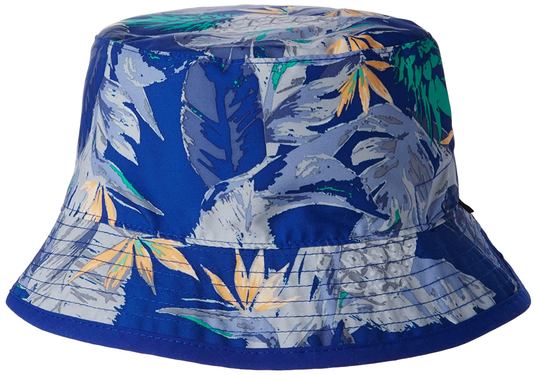 The North Face Kid s Sun Stash Cap - Silver Metallic Silver MARKER BLUE  PINEAPPLE PRINT 9c8f60d209a8