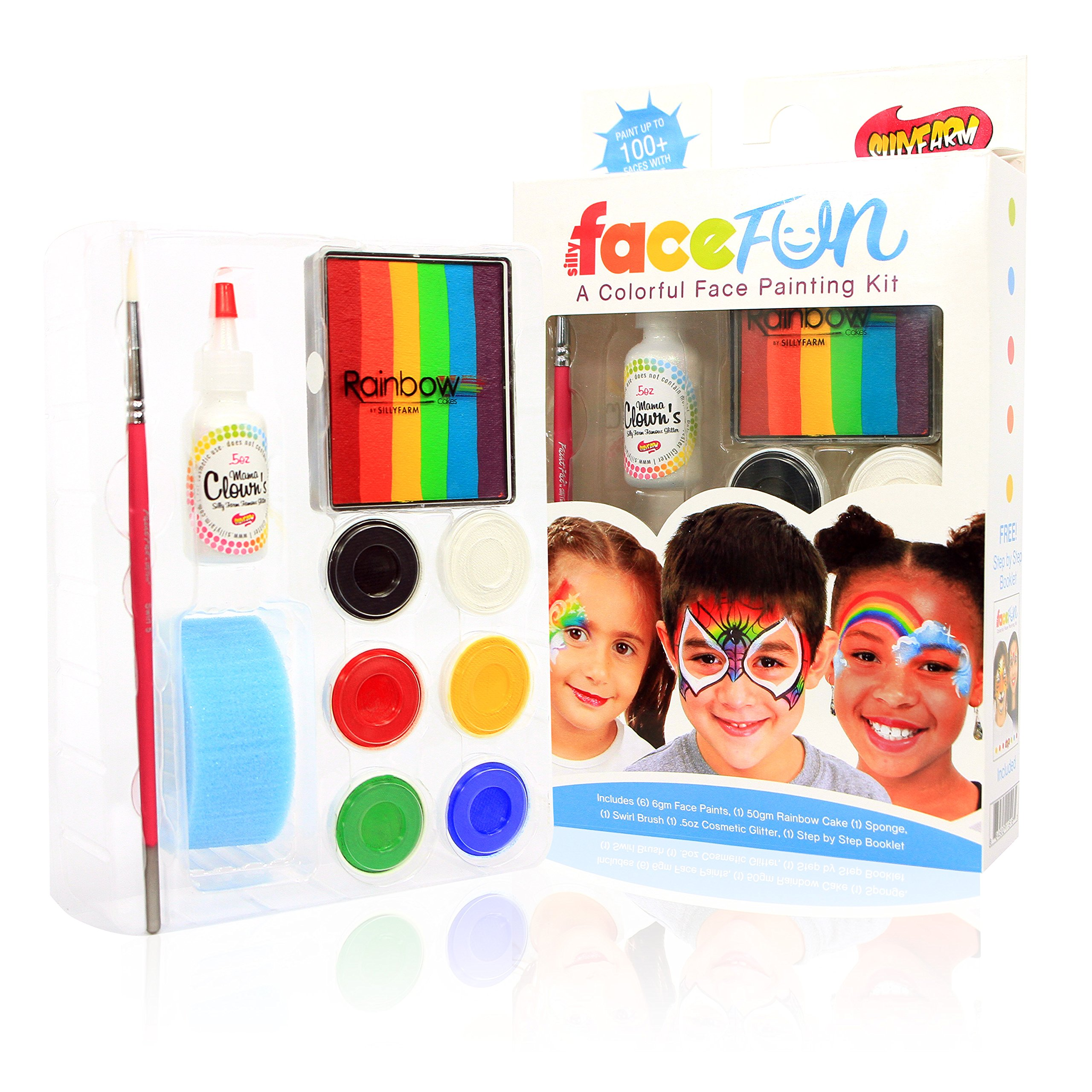 Silly Farm Rainbow Party Face Painting FACEfun Kit by Sillyfarm