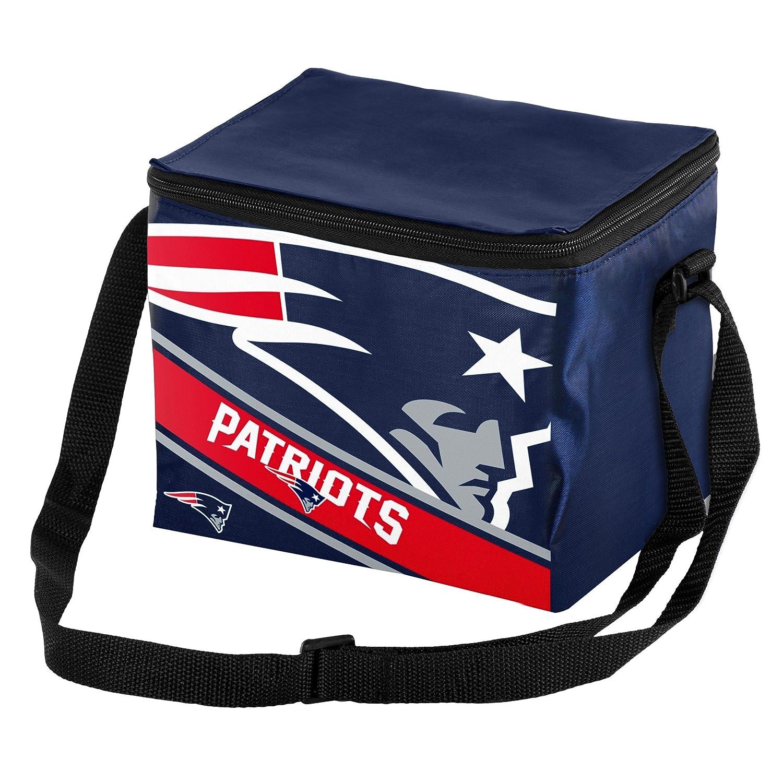 New England Patriots Big Logo Stripe 6 Pack Cooler