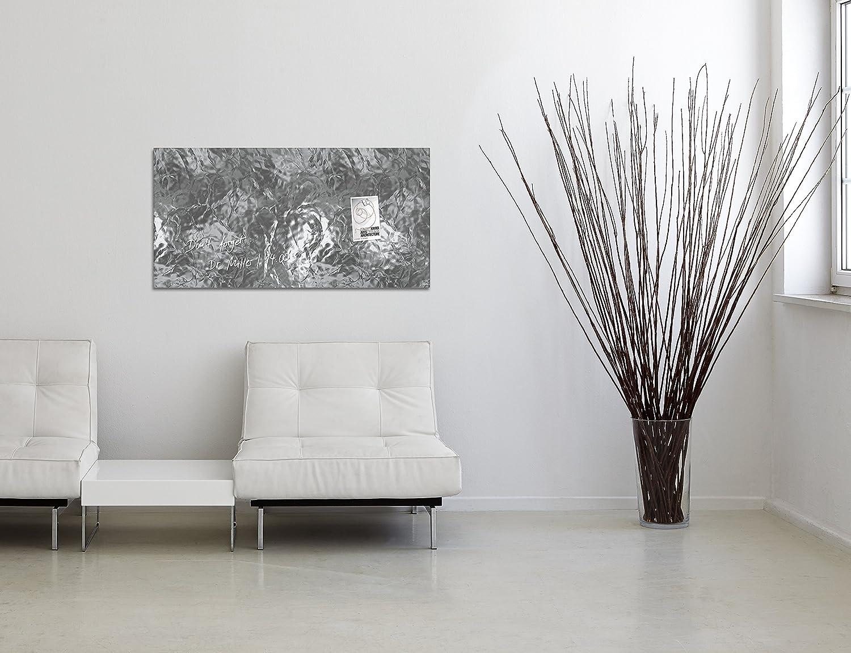 SIGEL GL259 Tableau magn/étique en verre Artverum bois naturel marron fonc/é 91 x 46 cm