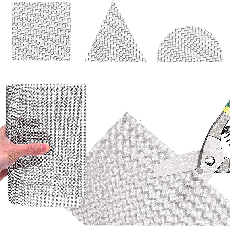 30 m/étallique tress/é en maille Acier inoxydable 304L 45/% une zone ouverte 30cm x60cm 250/µm Diam/ètre de fil 0.6mm Hole