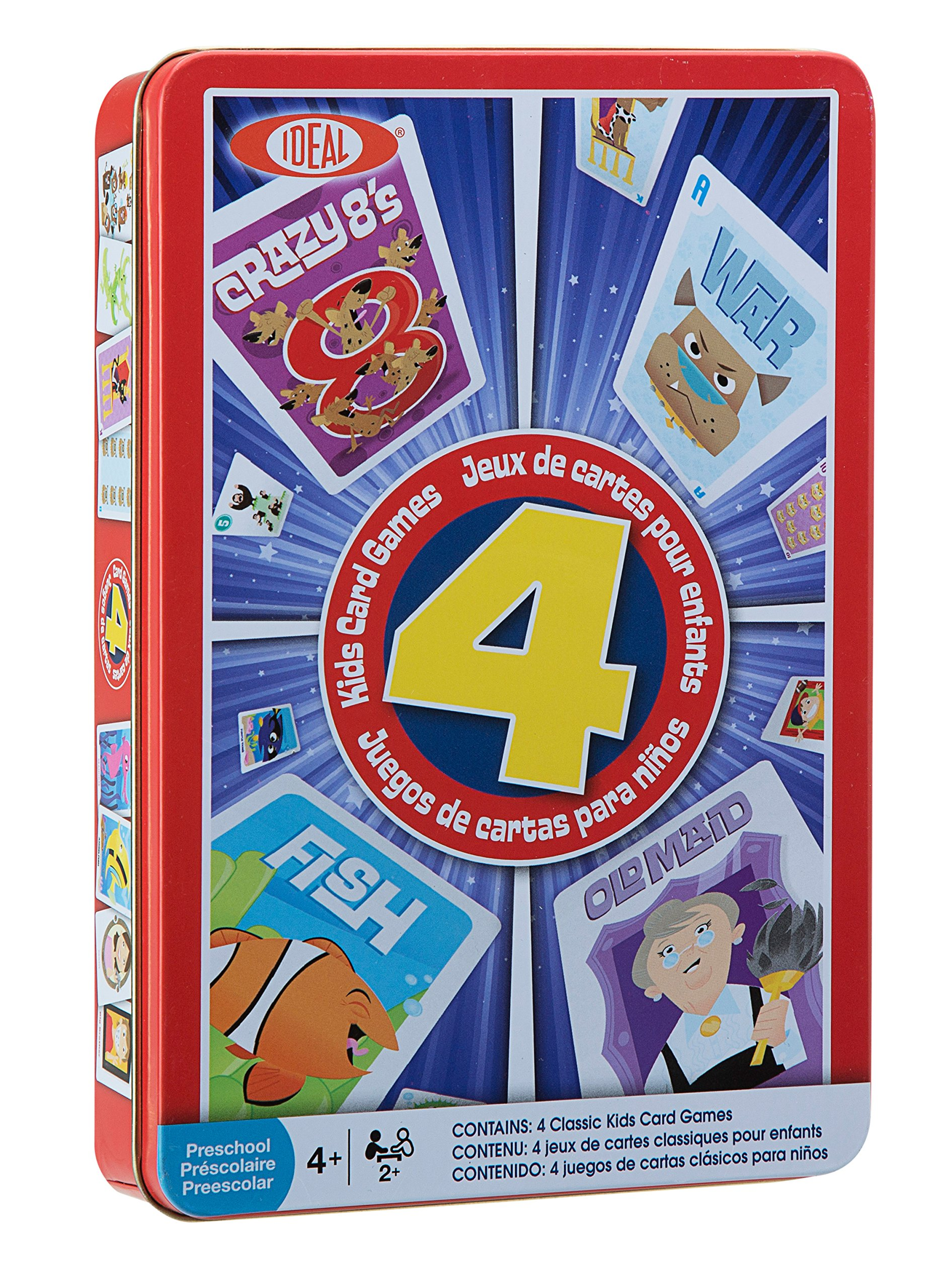 Ideal Children's 4 Card Games in Tin