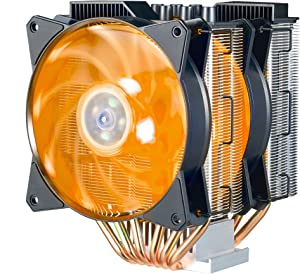 Cooler Master MasterAir MA621P RGB ThreadRipper TR4 Edition Twin Tower CPU Air Cooler w/ 6 Continuous Direct Contact 2.0 Heatpipes, Aluminum Fins, Push-Pull, Dual MF120R 120mm RGB Fans