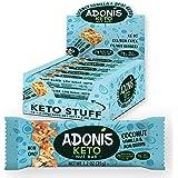Adonis Low Sugar Nut Bar - Barritas de Coco Crujiente Sabor a Vainillia   100% Natural, Baja en Carbohidratos, Sin…